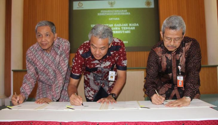 UGM, Pemprov Jateng dan Perhutani Jalin Kerjasama Pengembangan Pertanian Terpadu