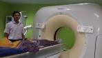Persiapan pengukuran morfometeri sendi dengan CT scan (Foto: dokumentasi Suyitno)