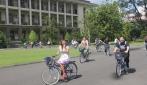 Orientasi Pengenalan Kampus, Mahasiswa Asing UGM Bersepeda