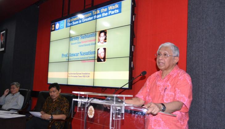 Anwar Nasution: Kinerja Menteri Bidang Ekonomi Mengecewakan