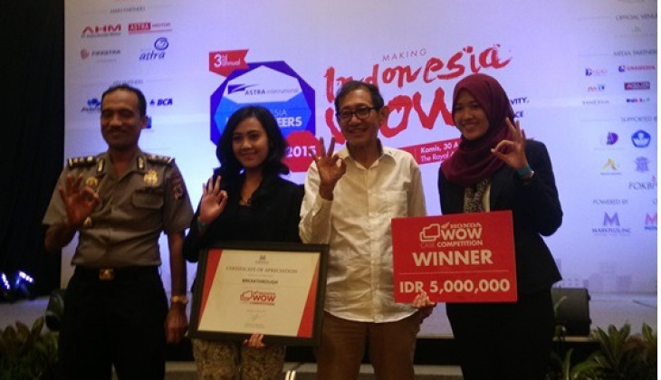 Mahasiswa UGM Juara 1 Honda Wow Case Competition