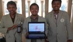 Tim pengembang aplikasi JalananYogya. Dari ki-ka : Zamahsyari (Developer), Derta Isyajora Rakhman (Project Manager),  Dzimar Akbarur Rokhim (GIS Engineer).
