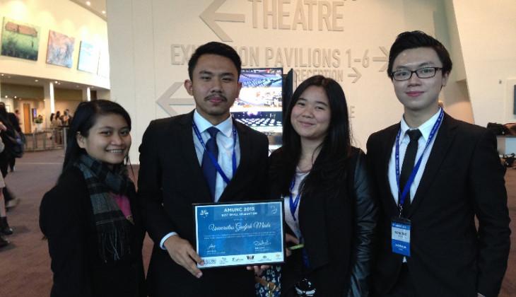 Mahasiswa UGM Raih Penghargaan  MUN Asia Pasifik
