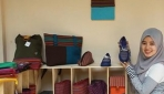 Aneka produk kerajinan tangan berbahan stagen warna