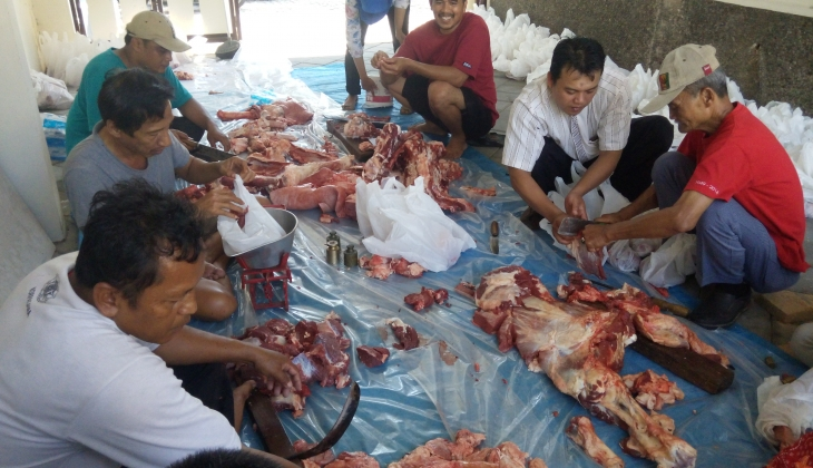 Korpagama Bagikan 290 Paket Daging Kurban
