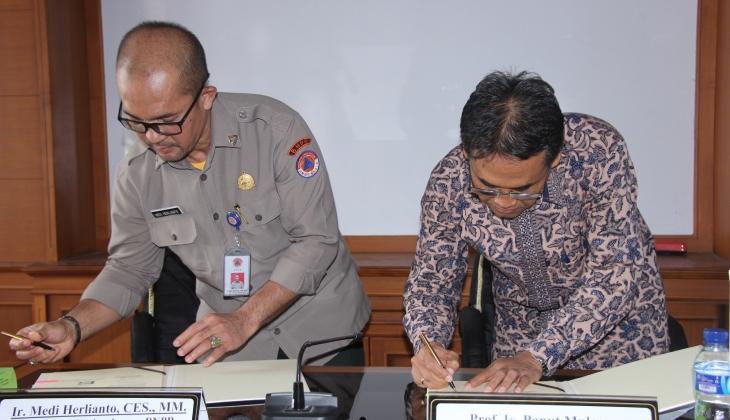 BNPB dan UGM Kerjasama Pemasangan Sistem Peringatan Dini Bencana Longsor