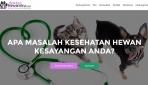 Tampilan depan website Dokterhewanku.com.