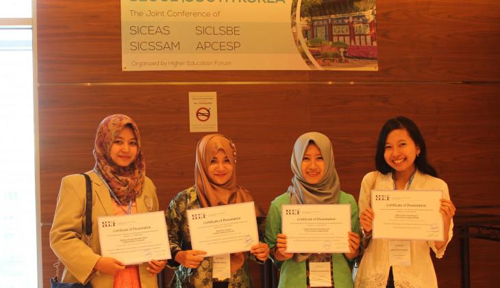 Empat Mahasiswa UGM Yang Mengikuti  Konferensi Internasional di Korea Selatan