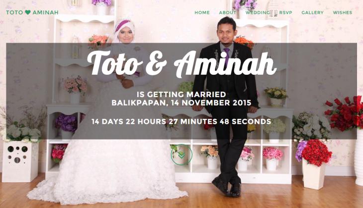 Domain pernikahan pribadi yang dibuat tim wemary atas permintaan klien/ calon pengantin.