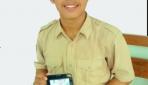 Devara Izaz Fathan, siswa SMAN 1 Yogyakarta yang telah mencoba aplikasi Edzu menyebutkan bahwa aplikasi ini sangat inovatif dan praktis untuk membantu pembelajaran di daerah terpencil. (foto:dok. pribadi)