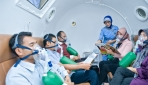 Sejumlah pasien tengah menjalani terapi oksigen hiperbarik di Rumah Sakit JIH, Yogyakarta.(foto: http://rs-jih.co.id)