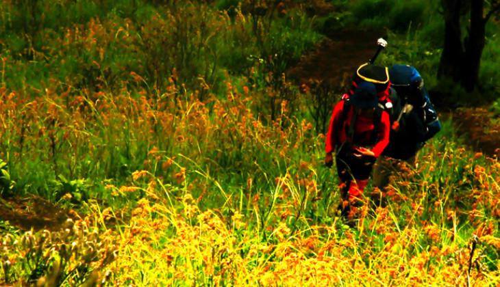 Anggota Mapagama tengah menjalani latihan dalam persiapan pendakian di Pegunungan Himalaya bulan Agustus mendatang. (foto: dok. Mapagama)