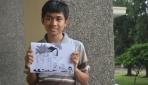 Mahasiswa Kehutanan UGM Menang Kontes Editorial Cartoon FAO. Michael Jose menunjukkan karyanya yang berhasil terpilih sebagai yang terbaik dalam konters tersebut.