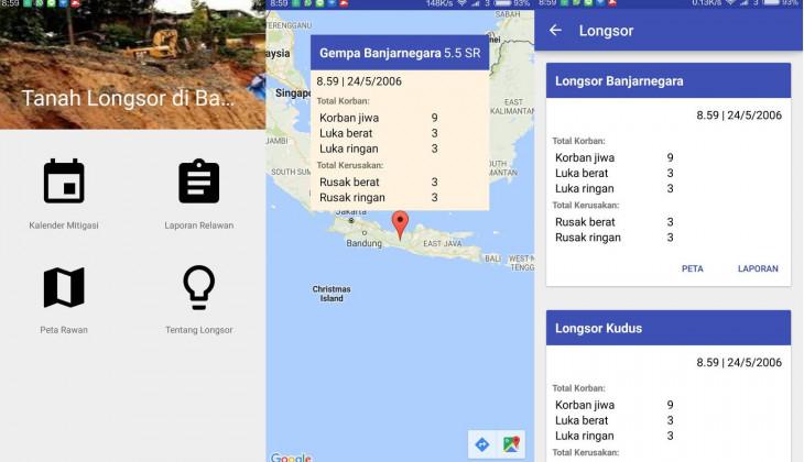Mahasiswa UGM menciptakan Aplikasi EWS Bencana Longsor berbasis pelaporan masyarakat.