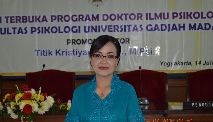 Teliti Trilogi Belajar Akademik, Titik Raih Doktor