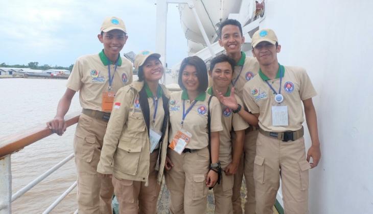 Keenan Mukti Sinatriya (paling kiri) dan Merlangen Enfani (ketiga dari kiri) saat mengikuti KPN 2016.