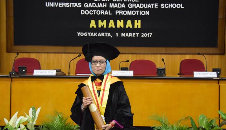 Amanah Nuris Raih Doktor UGM Usai Teliti Baha'i di Thailand