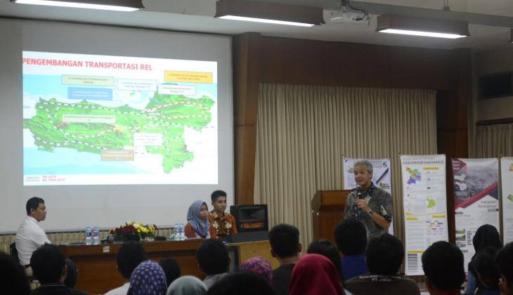 Kuliah Umum Tata Ruang Jawa Tengah bersama Ganjar Pranowo