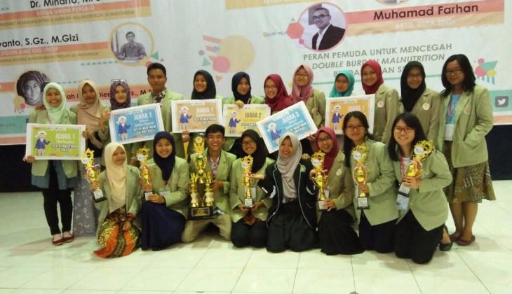 UGM Sabet  Gelar Juara Umum di Kompetisi Gizi Nasional