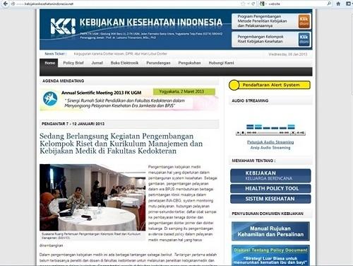 PMPK UGM Launching Program Penyebaran Ilmu Berbasis Website