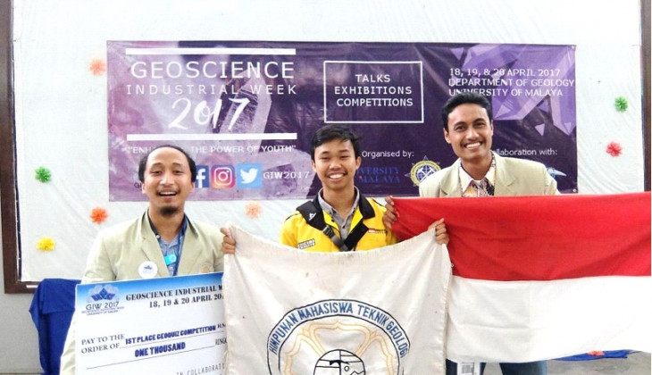 Mahasiswa Teknik Geologi UGM Juara  Geoquiz Competition 2017