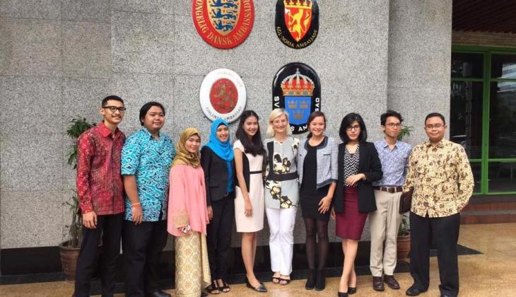 Menteri Denmark Mengundang Mahasiswa UGM untuk Berdiskusi