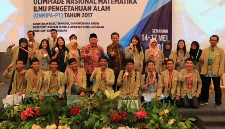 UGM Boyong 23 Medali ON MIPA 2017