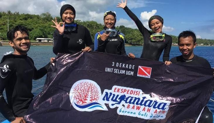 Selam UGM Eksplorasi Perairan Nusa Lembongan