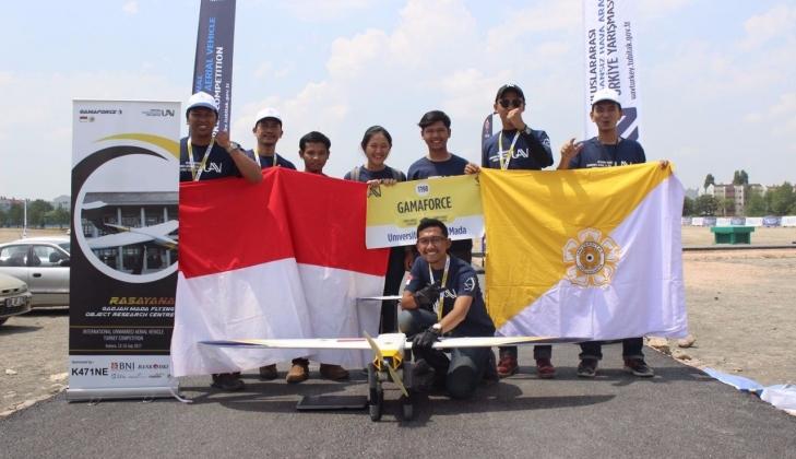 UGM Juara 3 Kompetisi Pesawat Tanpa Awak Internasional di Turki
