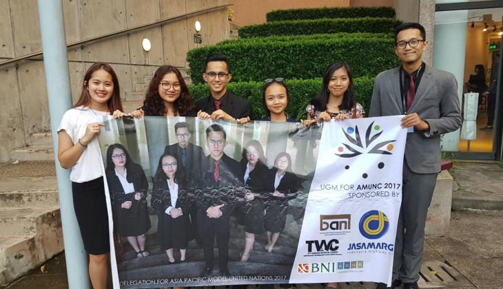 Delegasi UGM Mengharumkan Indonesia pada Simulasi Sidang PBB se-Asia Pasifik