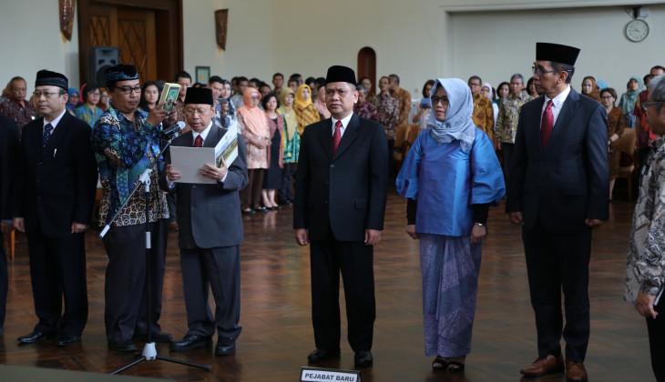 UGM Lantik Empat Wakil Rektor Baru