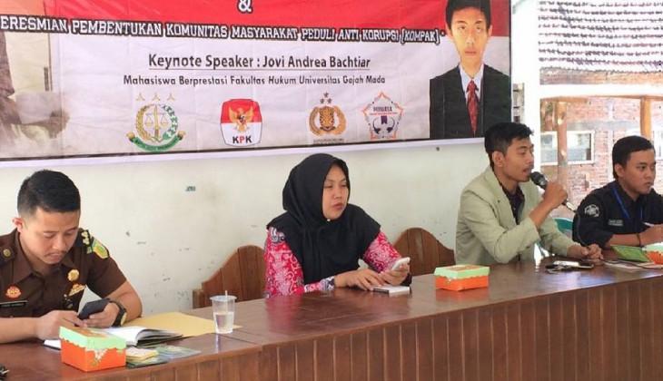 KKN UGM Unit Desa Pitu Gelar Kuliah Umum Pendidikan Anti Korupsi
