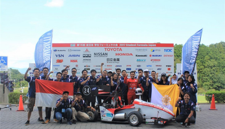 Bimasakti Pertamina Racing Team Unggul pada Static Event Student Formula Japan 2017