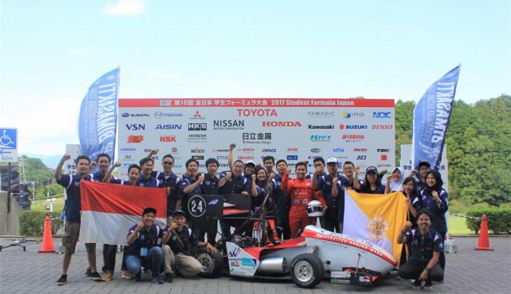 Bimasakti Pertamina Racing Team Unggul pada Static Event Student Formula Japan 2017