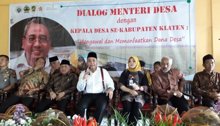 Menteri Desa Meresmikan Desapolitan di Klaten
