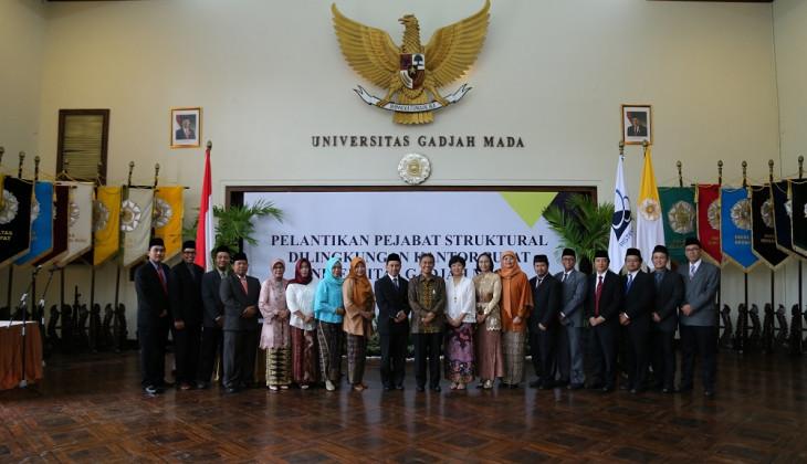 Rektor UGM Lantik 18 Pejabat Baru