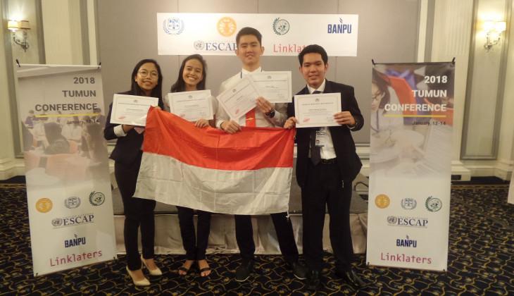 Mahasiswa UGM Raih Best Delegate di Thammasat MUN 2018