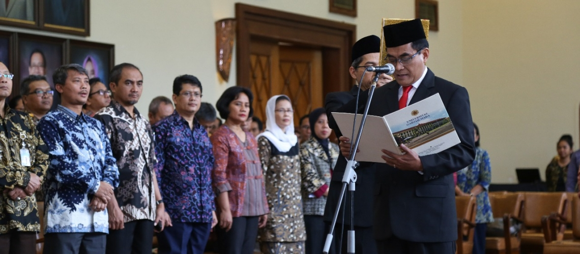UGM Vice-Rector for Education, Teaching and Student Affairs Inaugurated