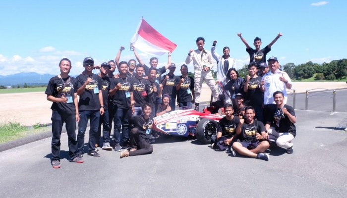 Bimasakti UGM Formula Car Wins Competitions in Japan