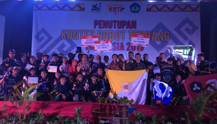 UGM Winners of Indonesian Flying Robot Contest 2016